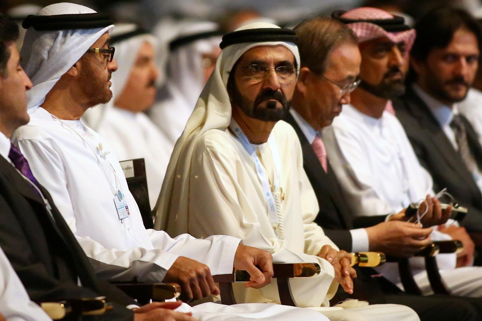 Dubai Sheikh alongside Ban Ki Moon