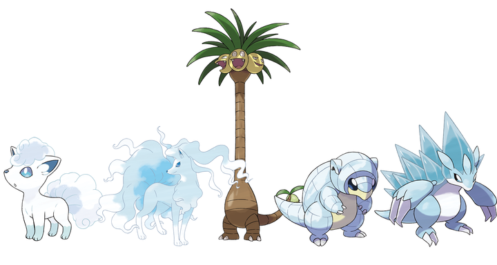 Pokemon Sun Moon Alolan form Pokemon