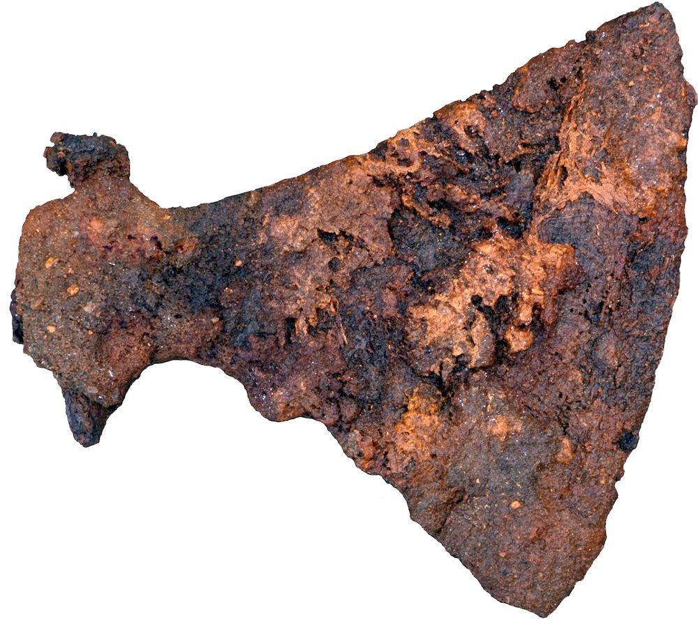 viking axe in tomb