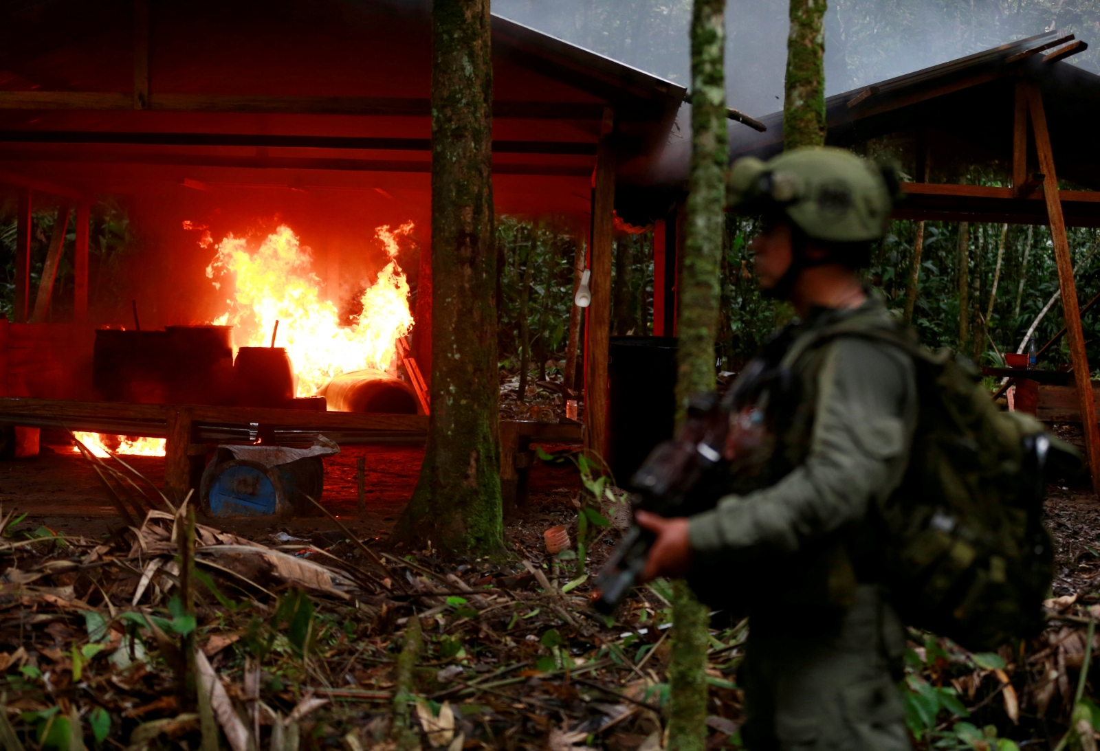 Colombian forces