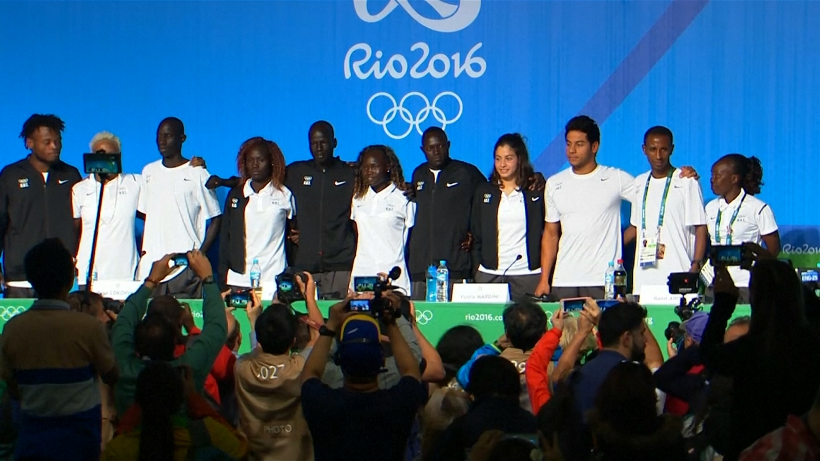 Olympic refugee team are proud