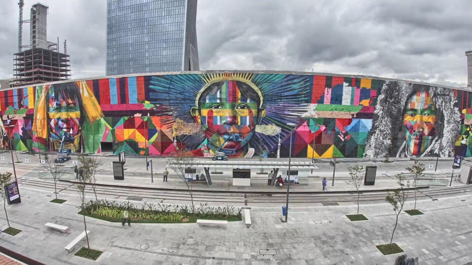 Graffiti artists creates masterpiece for Rio Olympics