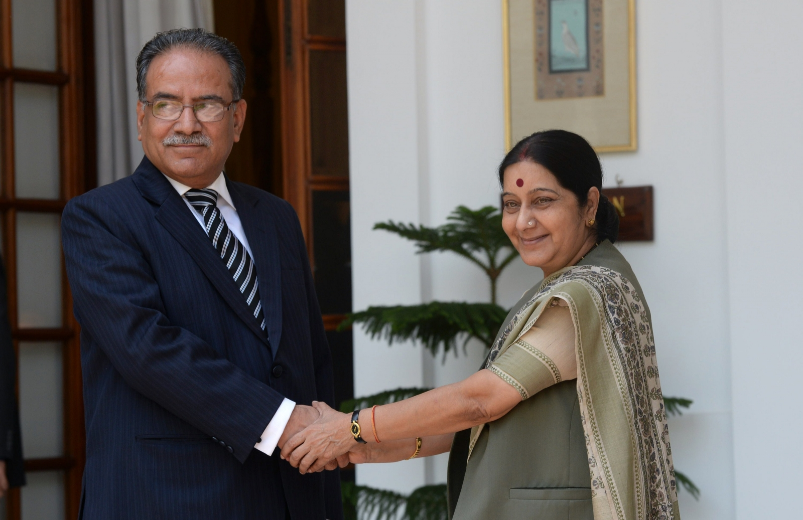 Prachanda and India's Susha Swaraj