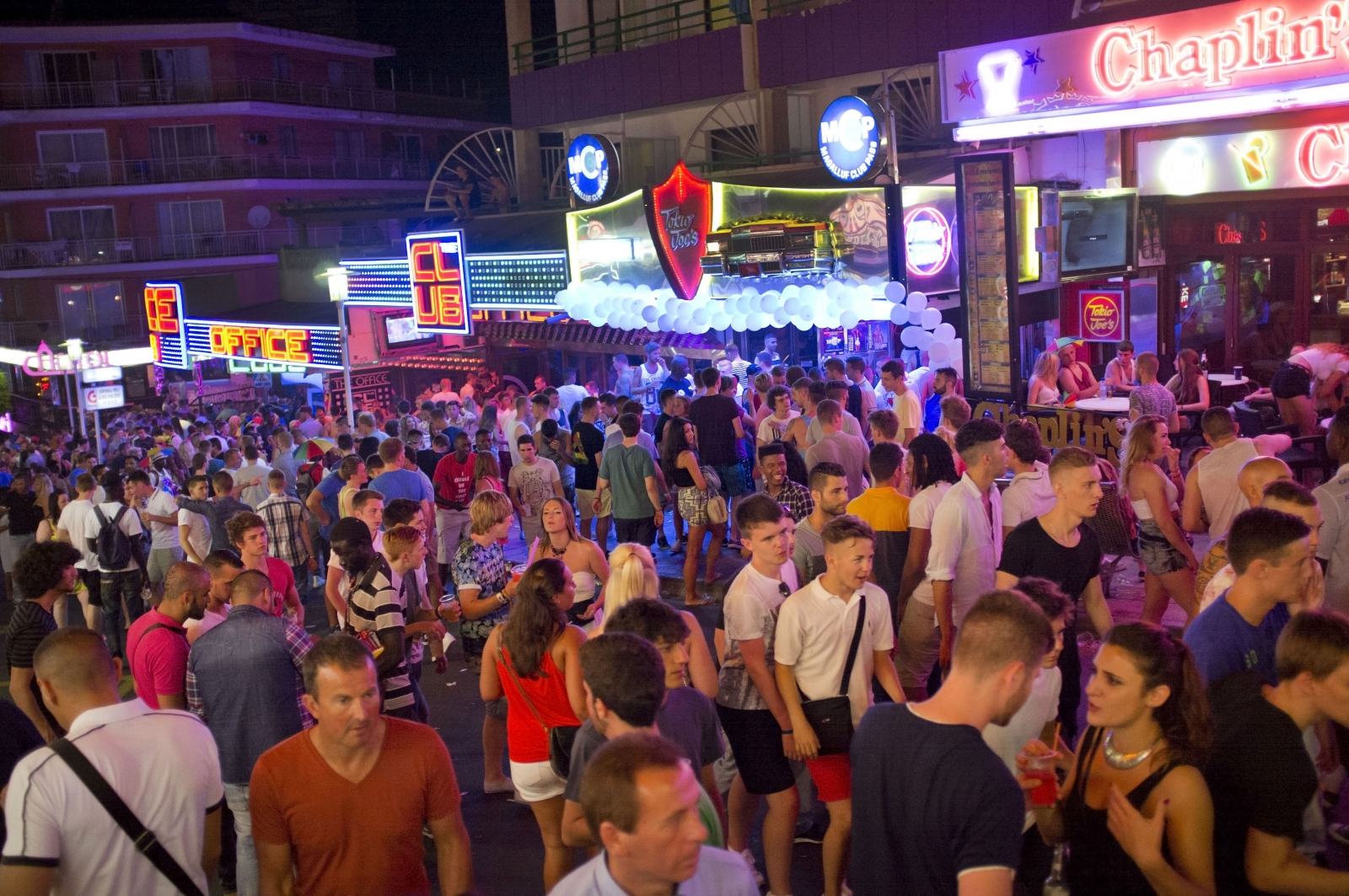 Magaluf tourists