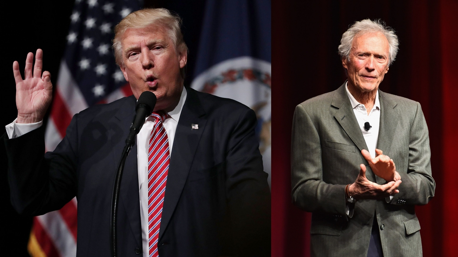 Donald Trump and Clint Eastwood