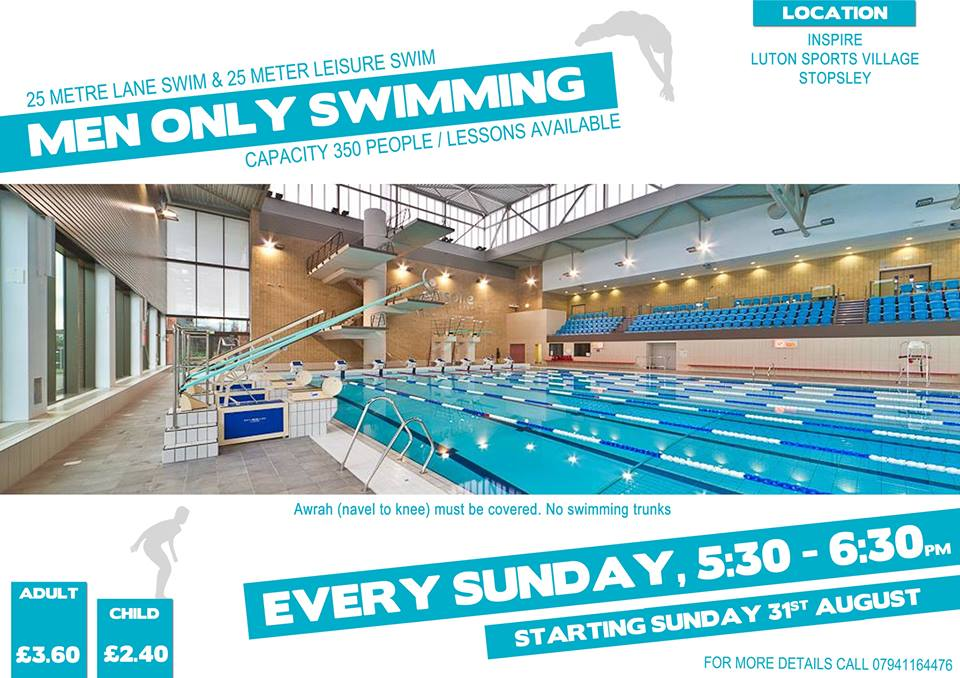 segregated swimming at Luton