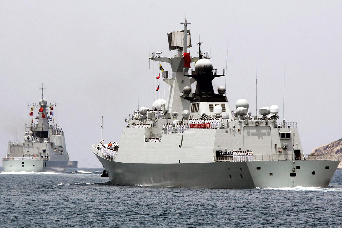 China Navy warship