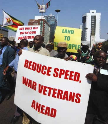 War veterans Zimbabwe