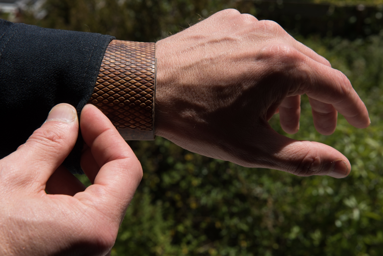 MycoWorks' mushroom leather bracelet