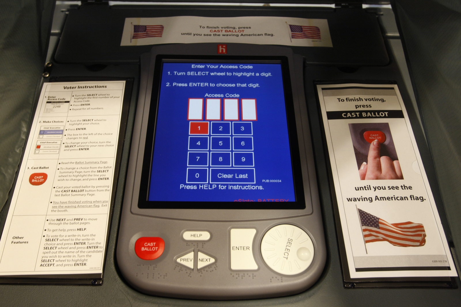 US election electronic voting system hack