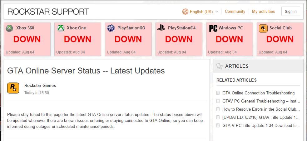 GTA Online Servers