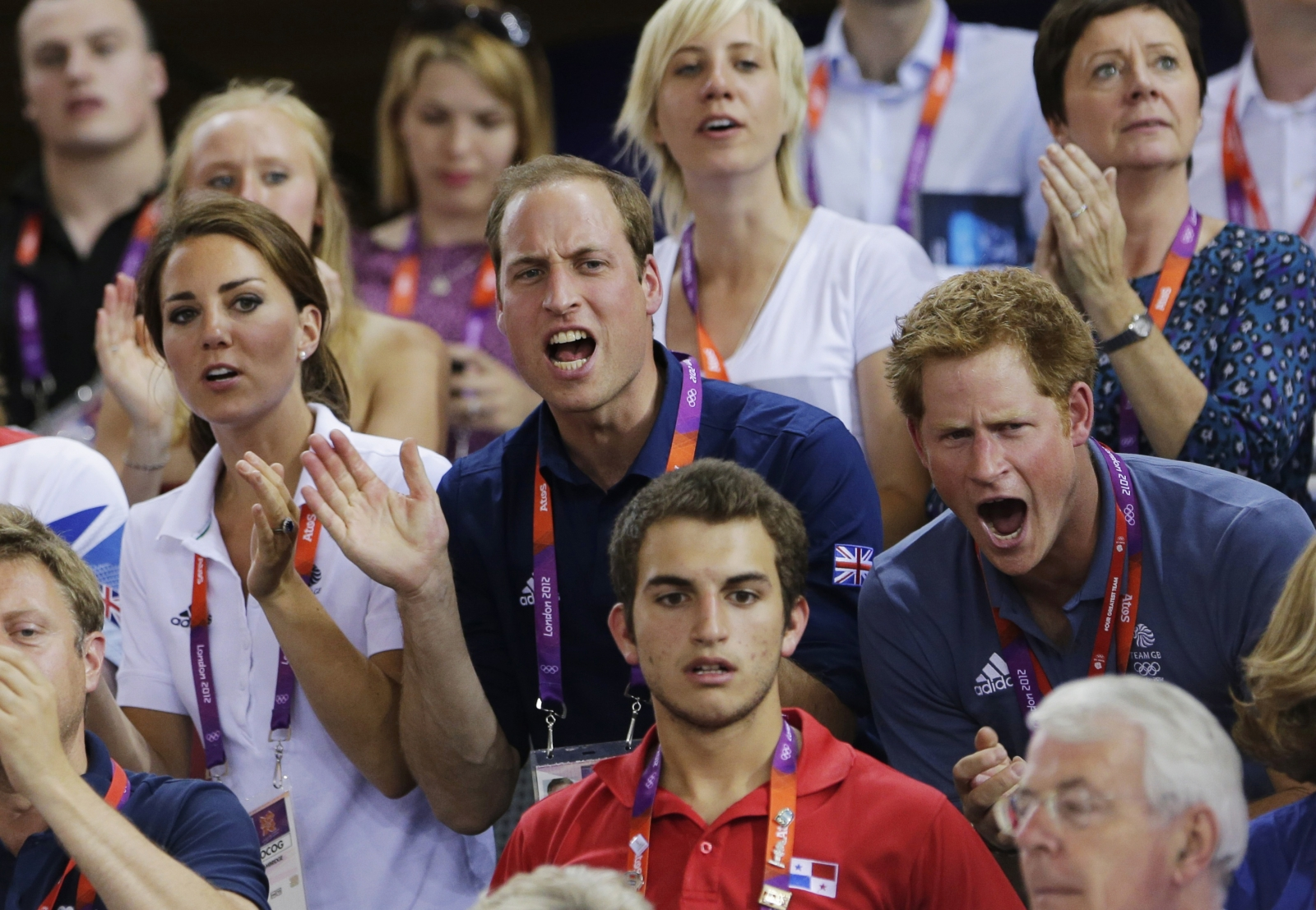 Princes William, Harry and Kate Middleton