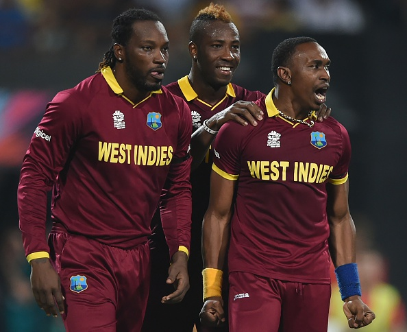 chris gayle dwayne bravo andre russell