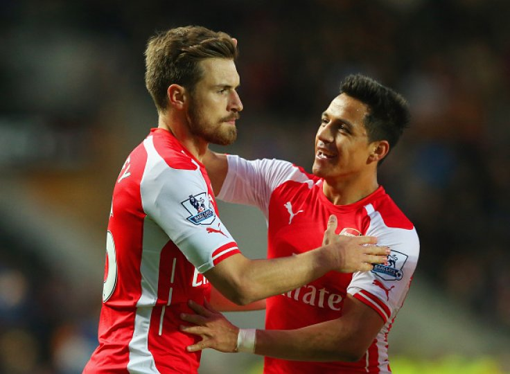 Alexis Sanchez and Aaron Ramsey