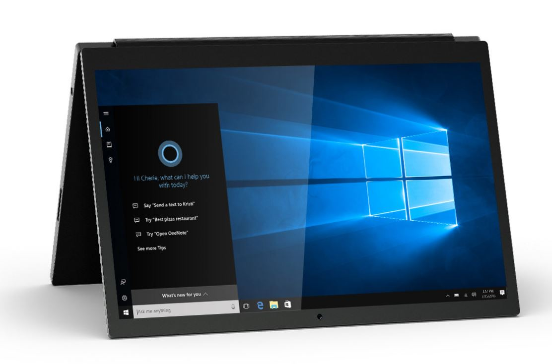 Cortana to set up Windows 10