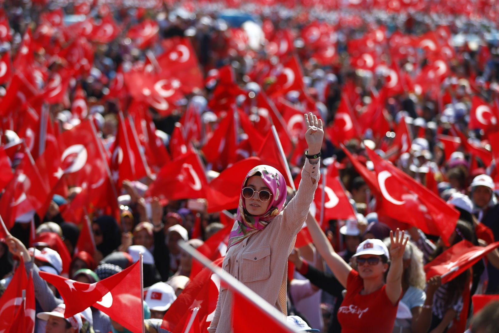 Istanbul Turkey Erdogan rally August 2016