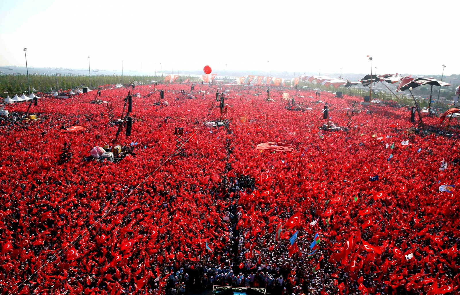 Turkey Democracy and Martyrs' rally