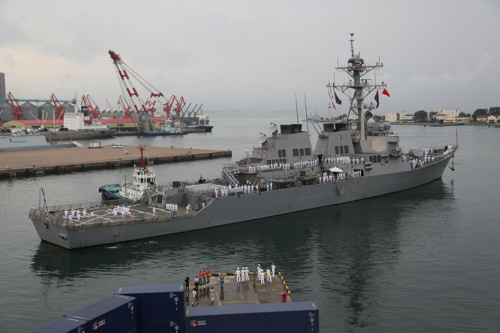 US navy destroyer in China