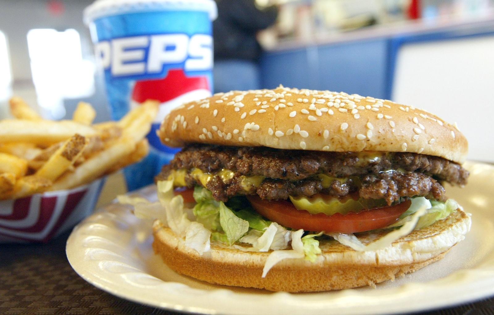 A fast food burger