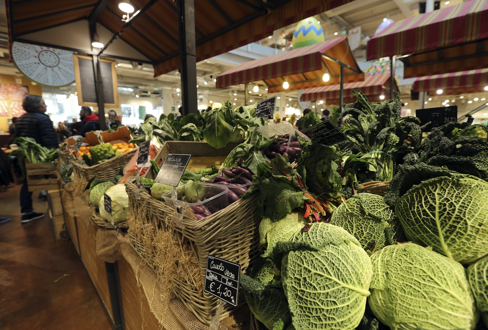 Vegetables at a market in Milan, Italy