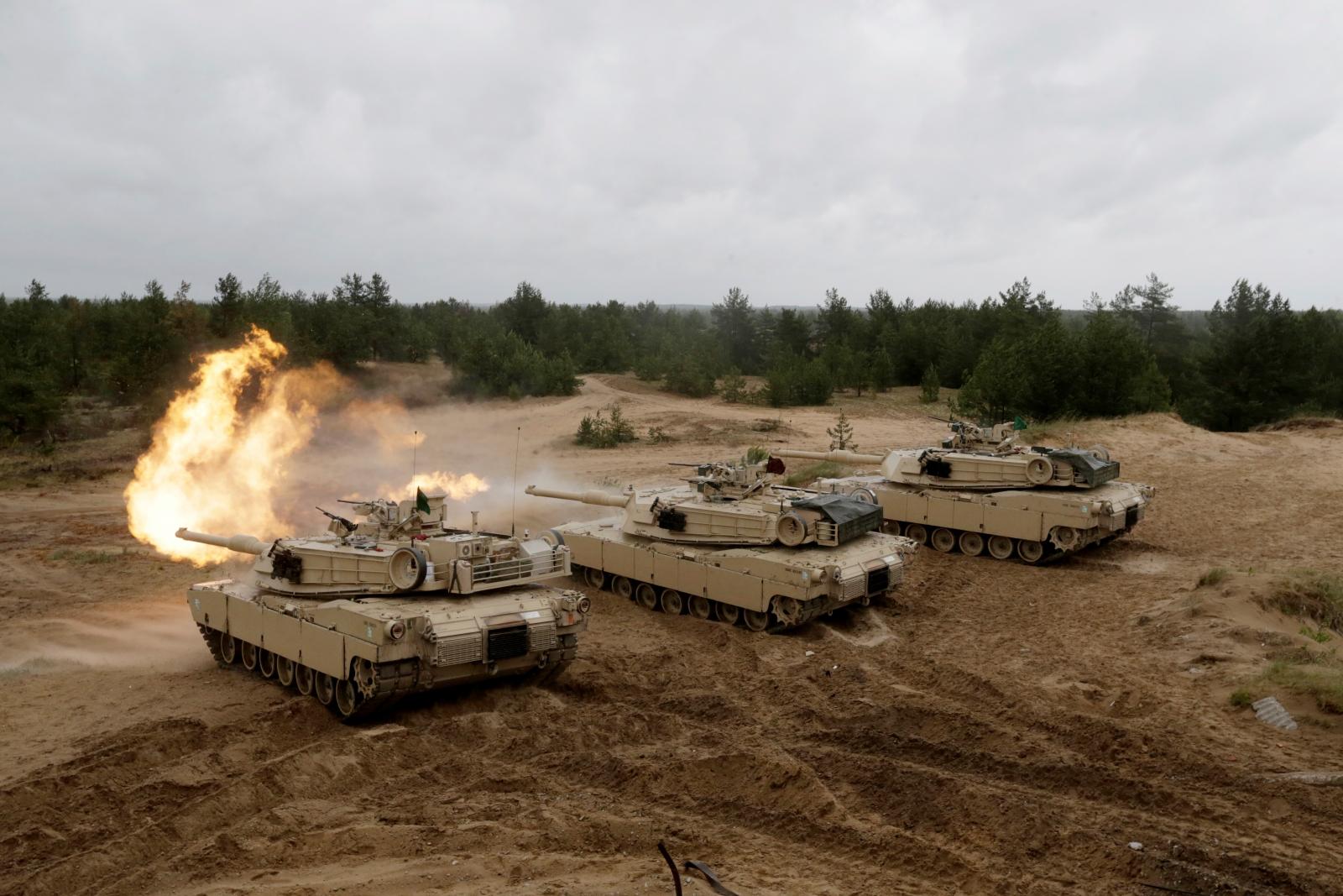 US tanks