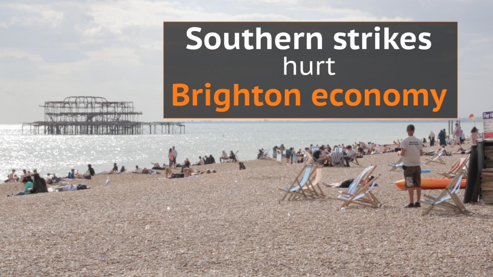 Southern rail strike: Brighton economy suffering due to travel chaos