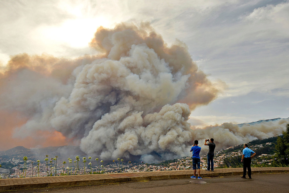 Funchal Madeira Portugal fire inferno