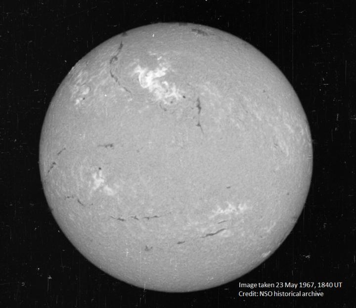 1967 Solar Storm NSO H-Alpha