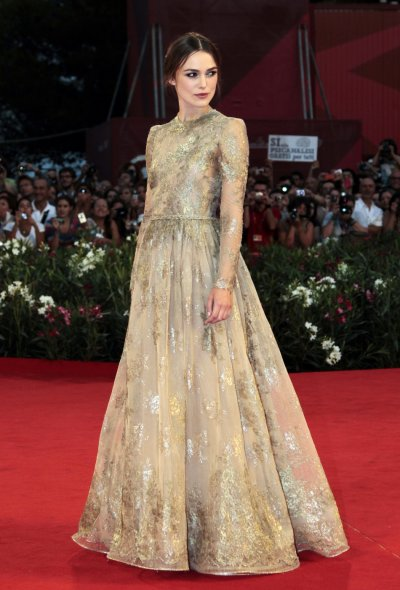 Actress Keira Knightley arrives on the red carpet for her film quotA Dangerous Methodquot at the 68th Venice Film Festival
