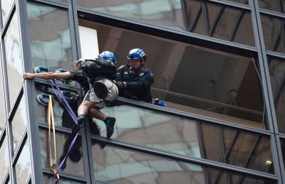 Man climbs Trump Tower