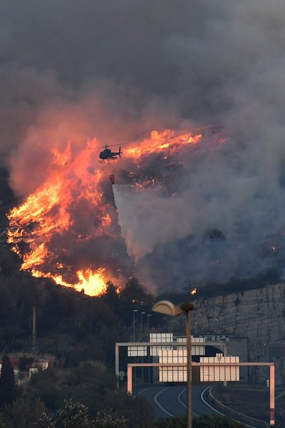 Marseille France fire incendie Vitrolles