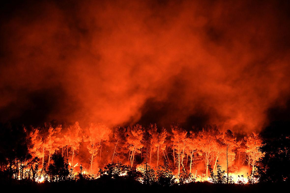 Marseille France fire incendie Vitrolles