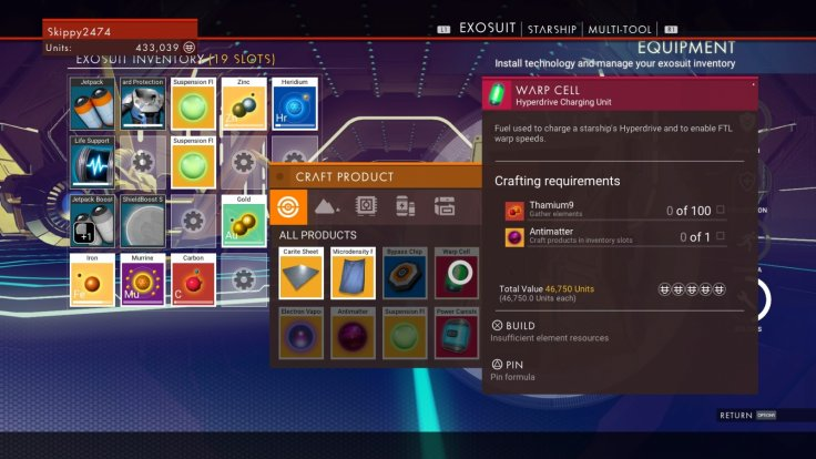 No Man's Sky Warp Cell