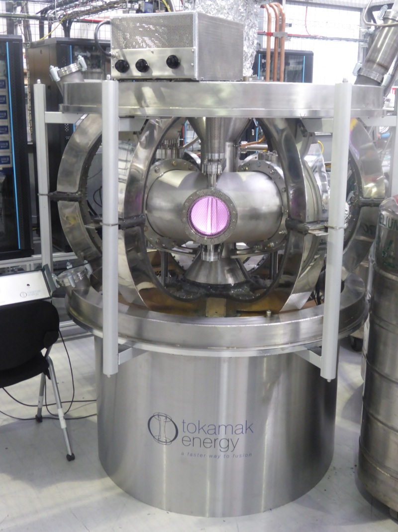 Tokamak Energy's small spherical tokamak.