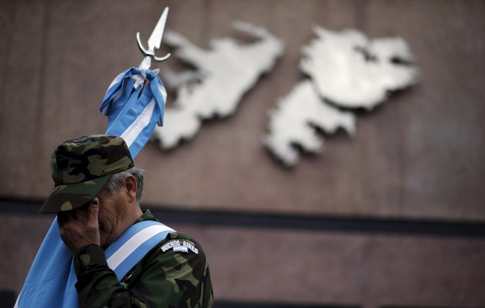Falkland islands dispute veteran 2016
