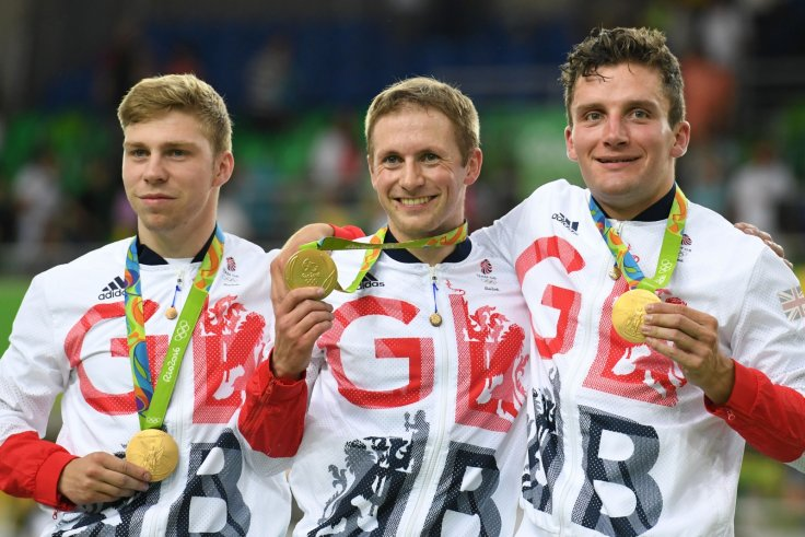 Callum Skinner, Philip Hindes and Jason Kenny
