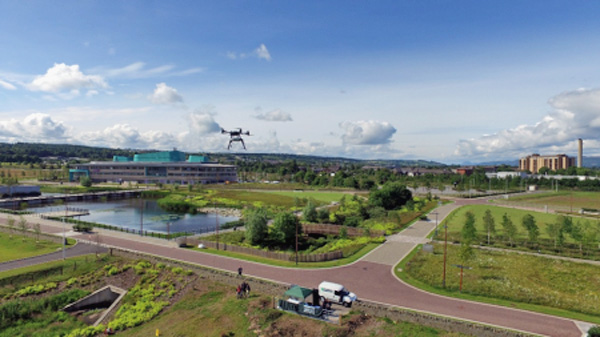 Drone small cell testing in Inverness, Scotland