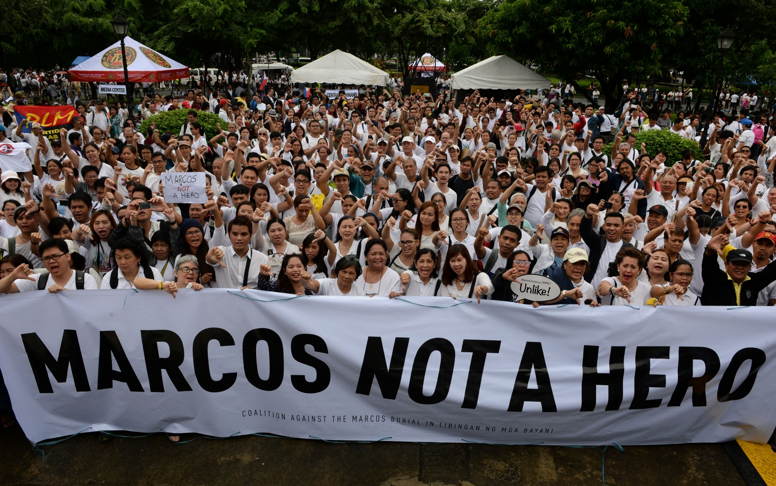 Philippines protest against Marcos