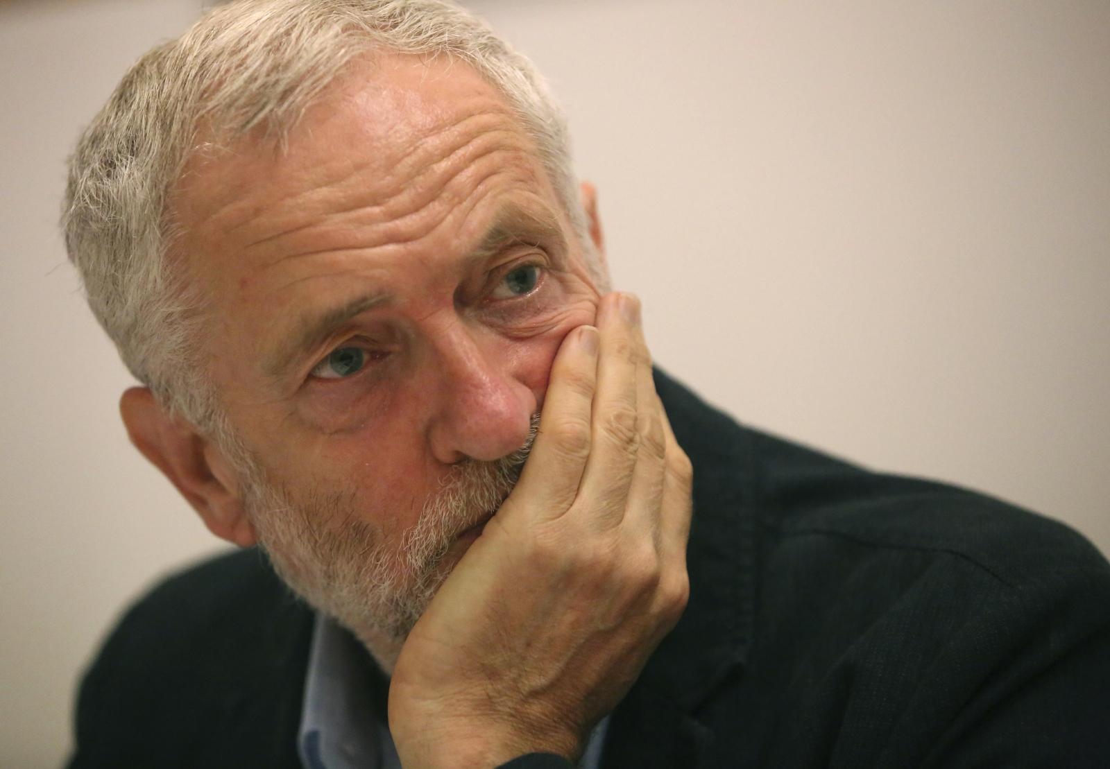 Corbyn at CWU meeting
