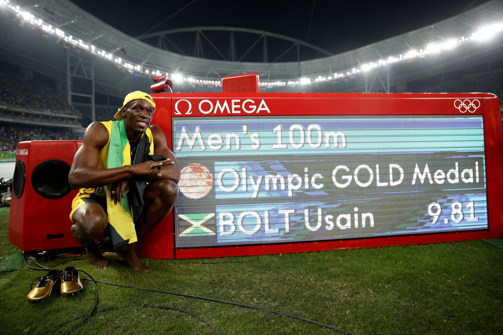 Image result for  Rio Olympics: Usain Bolt WITH Mum AT RIO 2016