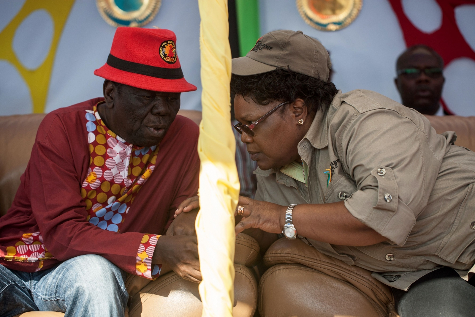 Morgan Tsvangirai and Joyce Mujuru