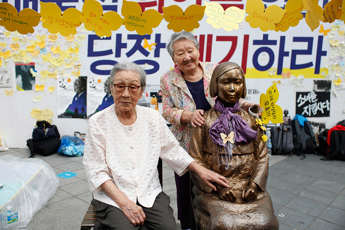 "korean comfort women of world war The japanese government finally announced it would give reparations to surviving korean ""comfort women"" in 2015, but after a review, south korea asked for a stronger apology japan recently condemned that request—a reminder that the issue remains as much a matter of present foreign relations as past history."
