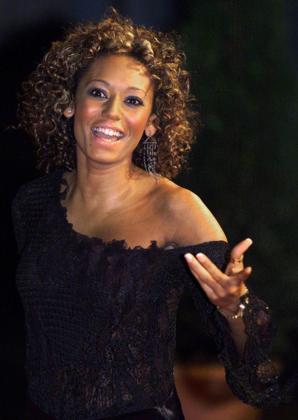 Britain's ex-Spice Girl Mel B (Melanie Brown) arrives at the Top of the Pops awards at the MEN arena..