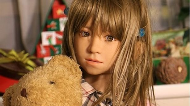 A Japanese child sex doll