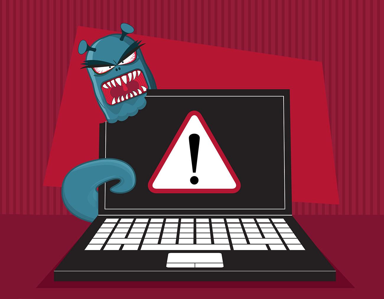 Cybersecurity PC alert