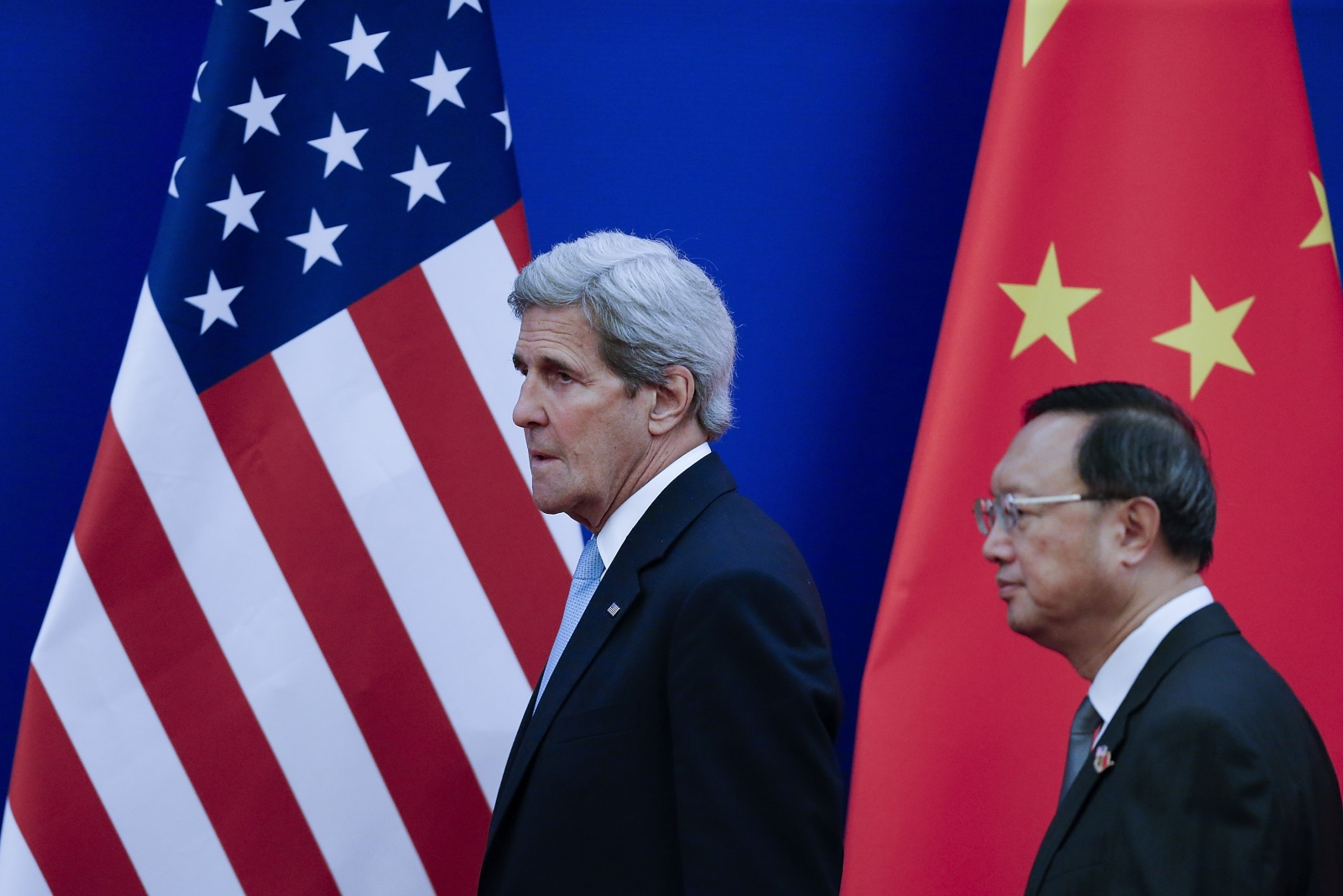 John Kerry and  Yang Jiechi