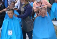 South Korea protest THAAD by shaving heads