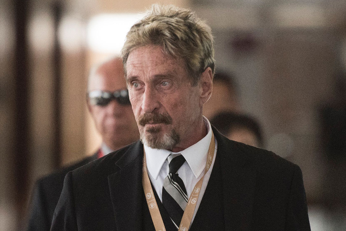 Security guru McAfee says he was hacked