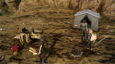 Final Fantasy 15 camping