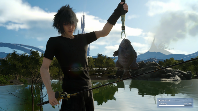 Final Fantasy 15 Noctis fishing